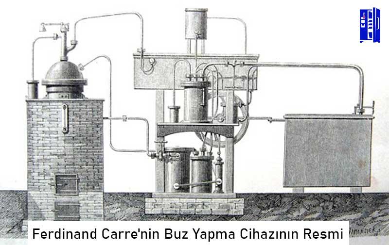 Ferdinand Carre'nin Buz Yapma Cihazının Resmi