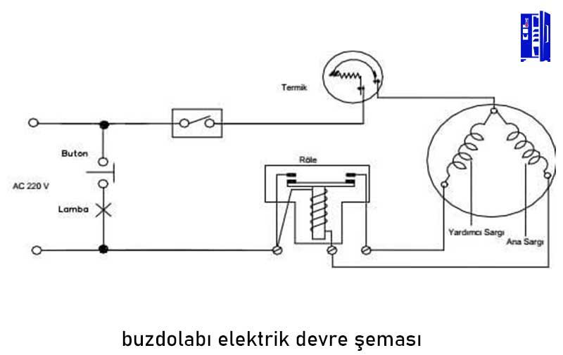 buzdolabı elektrik devre şeması